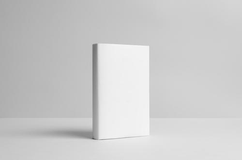blank white hardback