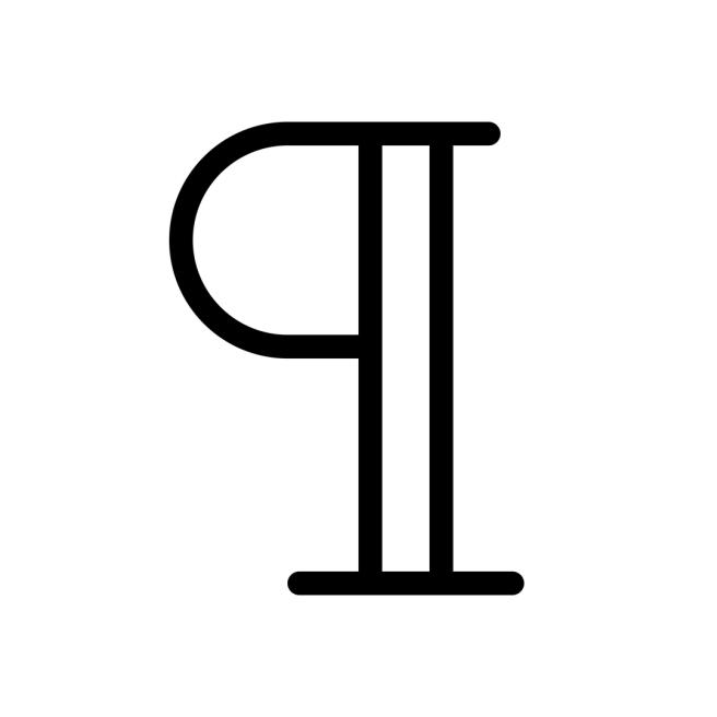 pilcrow symbol