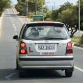 car with L Plate
