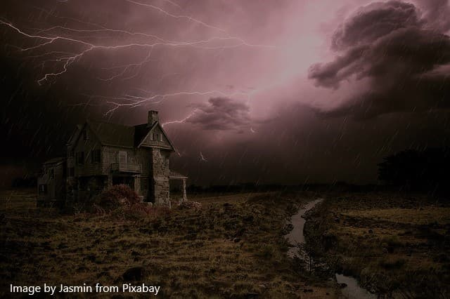 house in storm