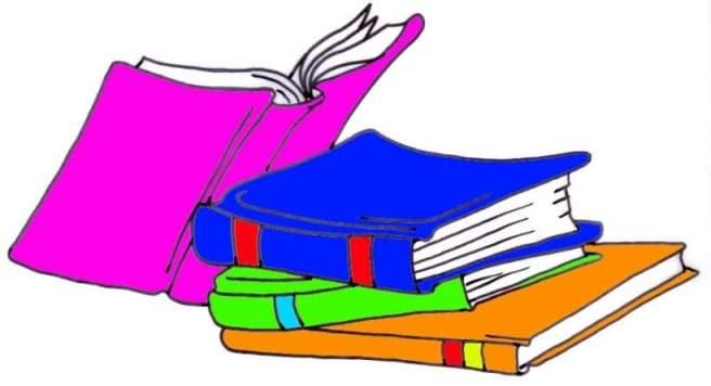 battered books clipart