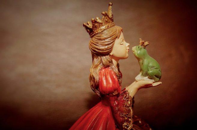 princess with frog